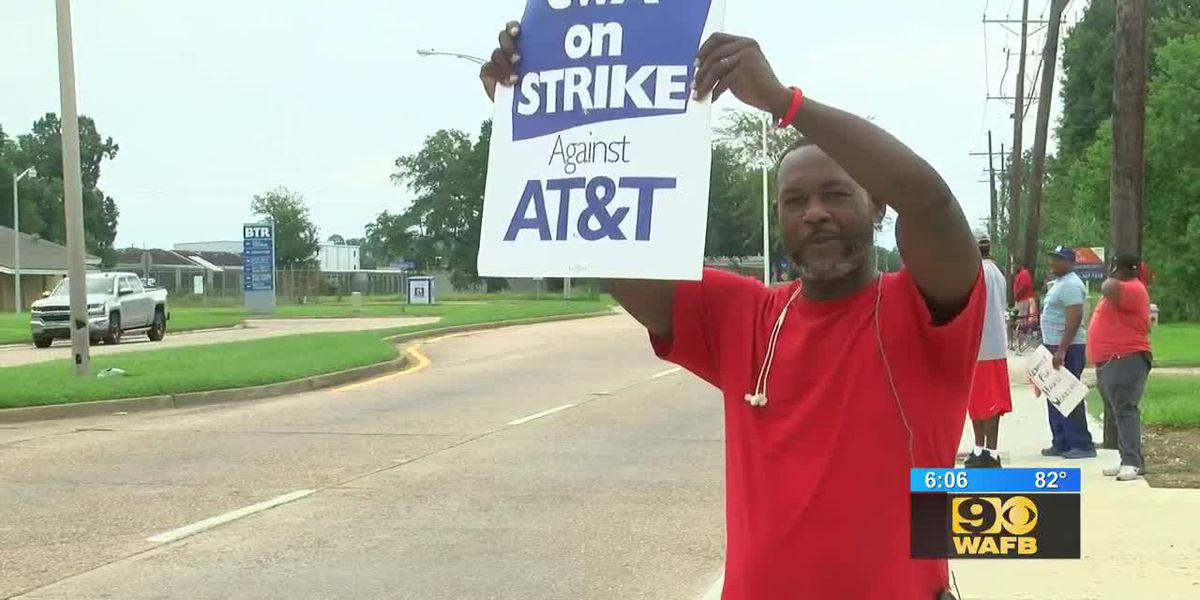 AT&T workers continue to protest in Baton Rouge and across the country