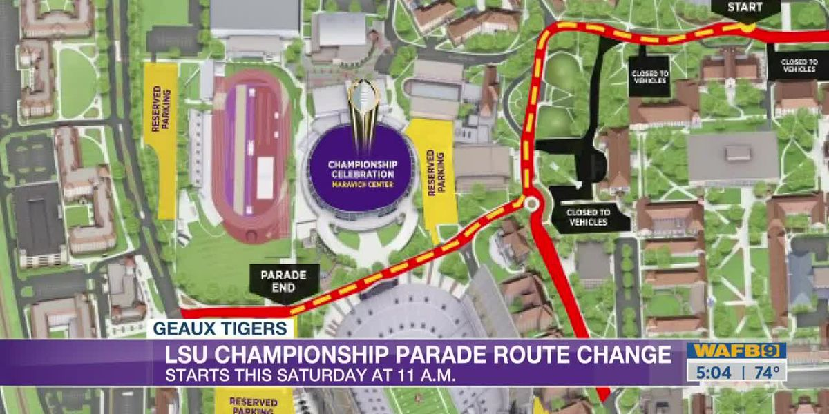 LSU officials: parade would roll, celebration moved inside PMAC