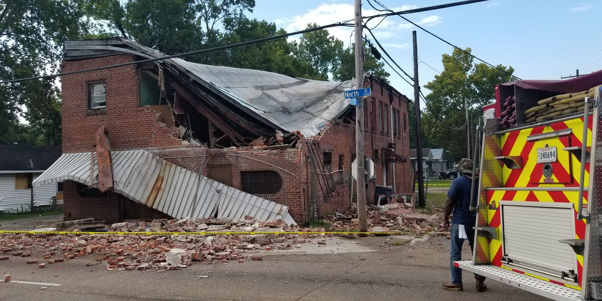 Vacant North Street building collapses in Baton Rouge