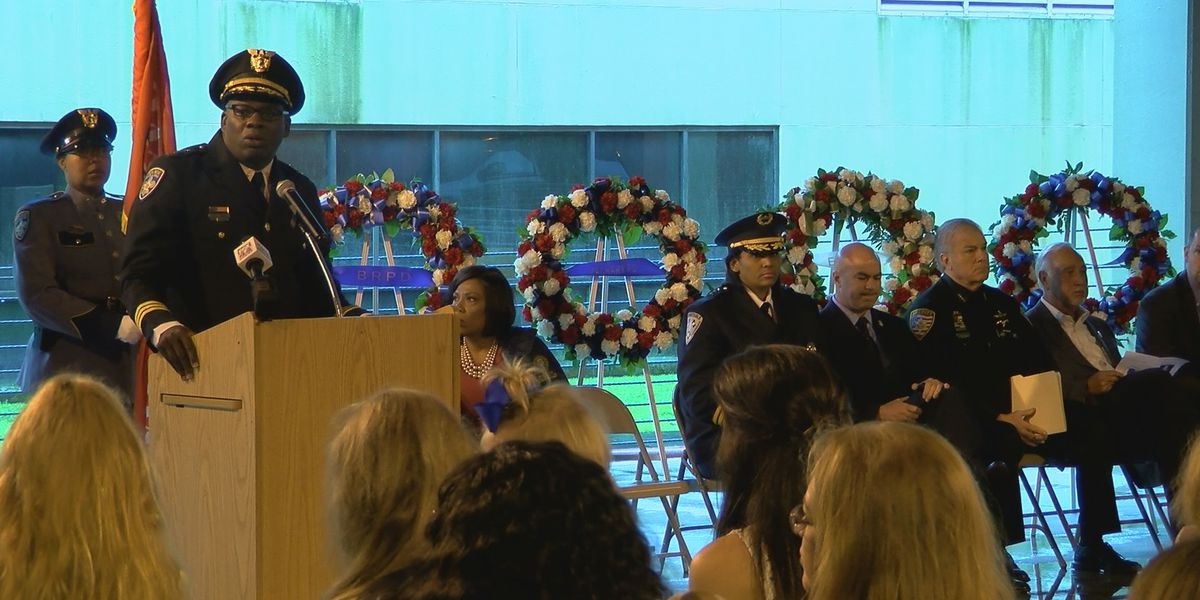 BRPD holds emotional ceremony to remember fallen officers