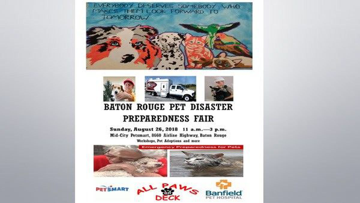Organizations host pet disaster preparedness fair in Baton Rouge