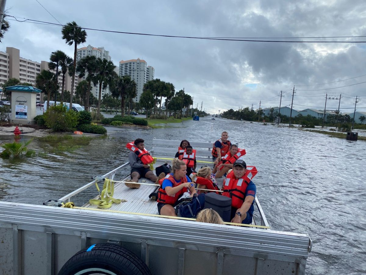 PHOTOS: Coast Guard rescues 9 people, one dog near Navarre Beach