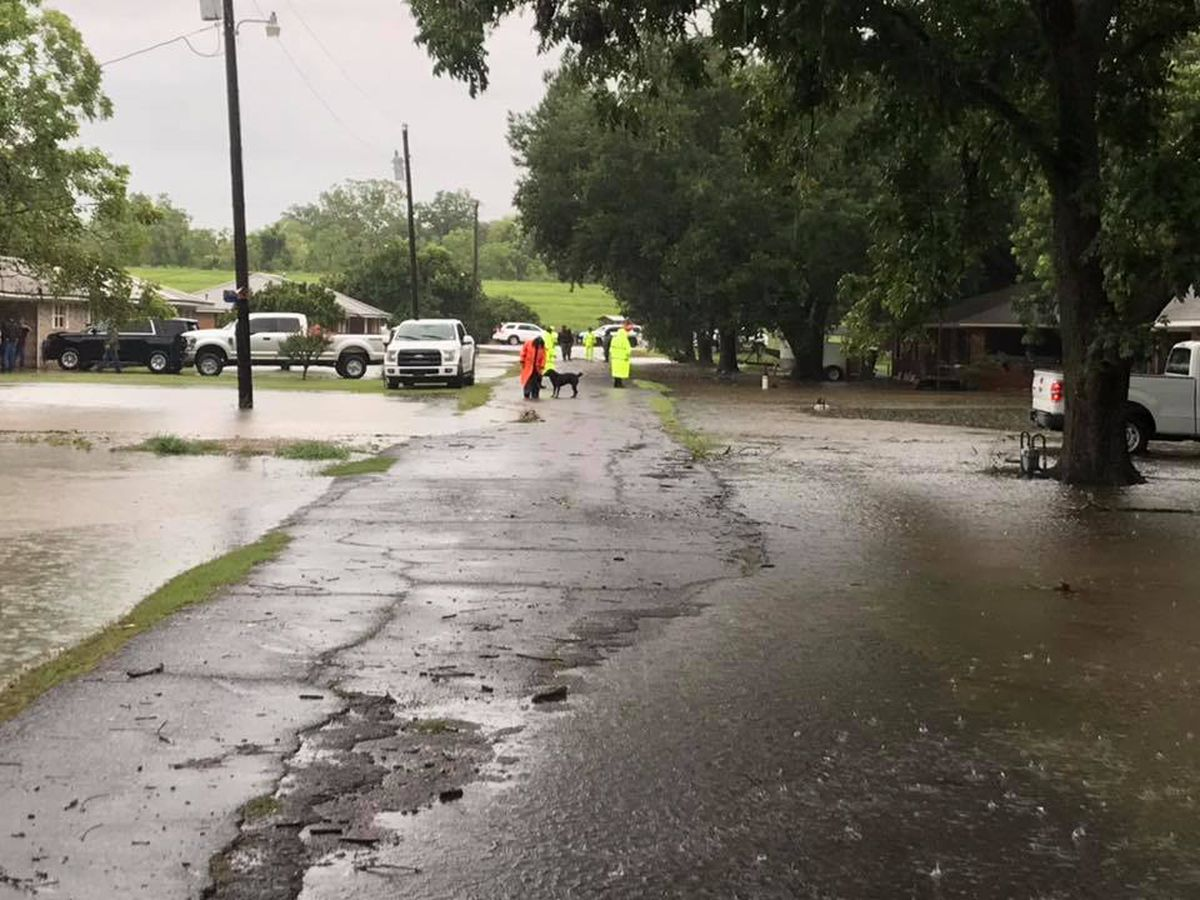 Homes taking on water in Pointe Coupee during flash flooding; levee not breached
