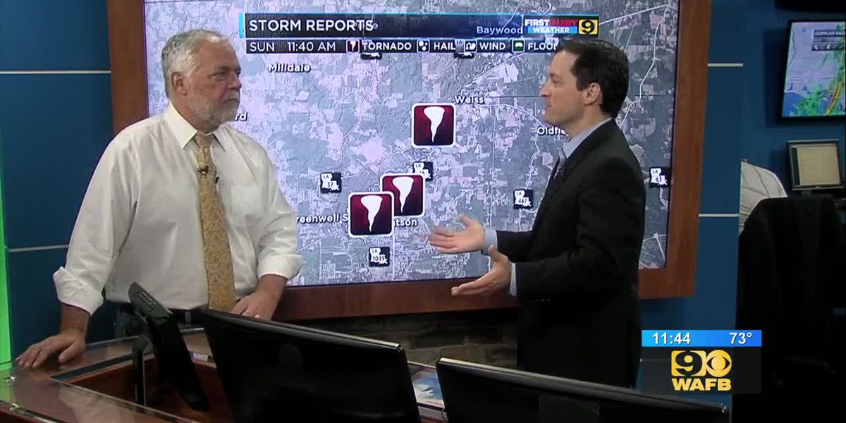 Storm reports caused by possible tornado