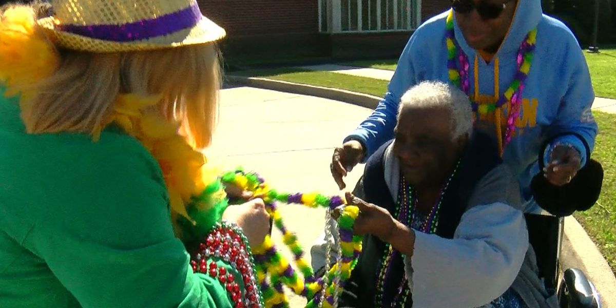 Residents treated to Mardi Gras experience at St. Clare Manor Nursing Home