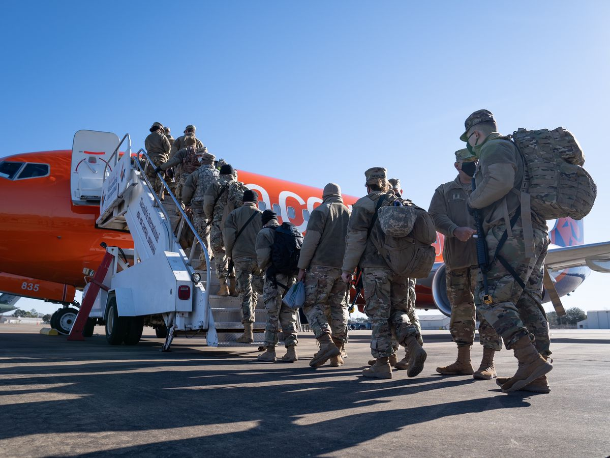 Governor John Bel Edwards sends LA National Guard Troops to Washington D.C to assist with Inauguration