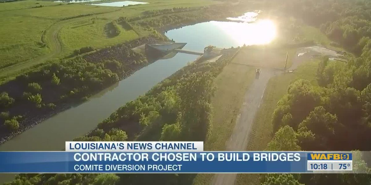 Contractor selected to build three bridges as part of Comite River Diversion Canal project