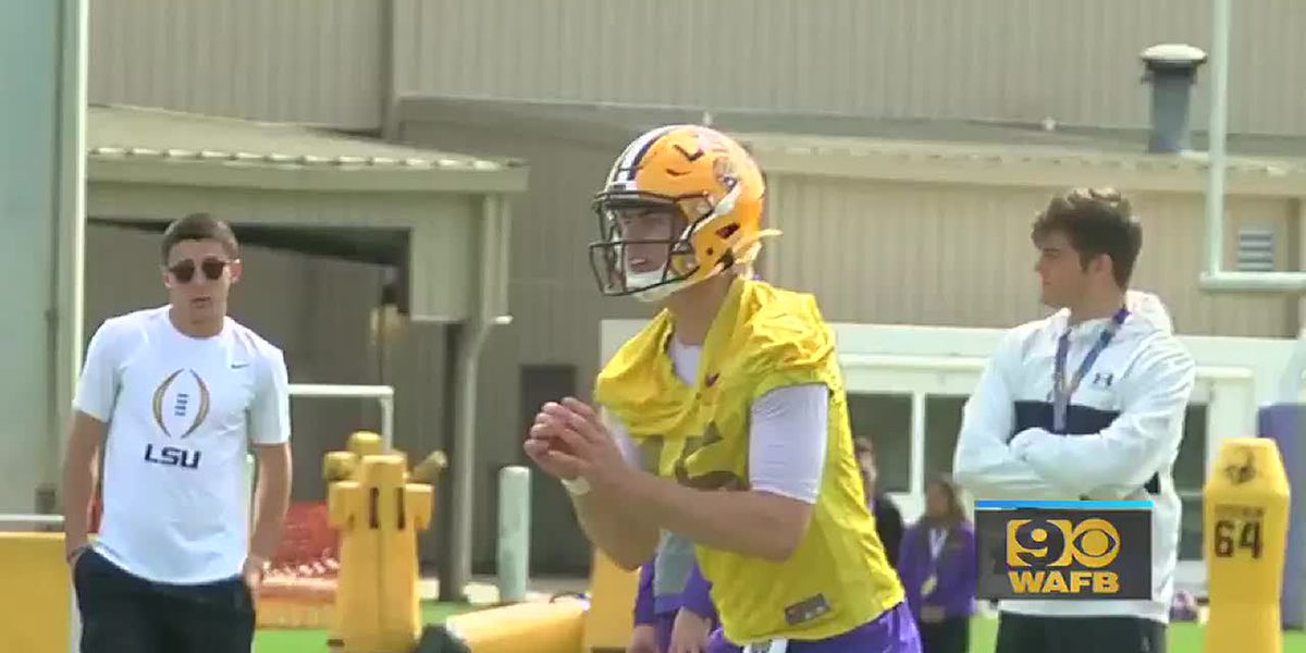LSU Football First Spring Practice