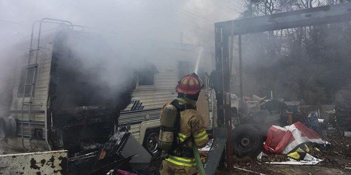 Central Fire Department responds to camper fire, vehicle in canal