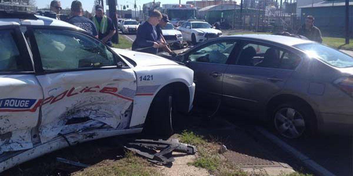 Two hospitalized after crash involving BRPD officer