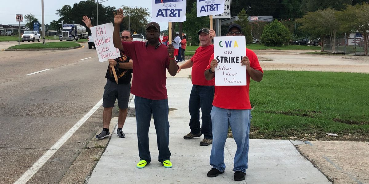 Baton Rouge AT&T technicians strike over 'unfair labor practices,' leaving service in jeopardy