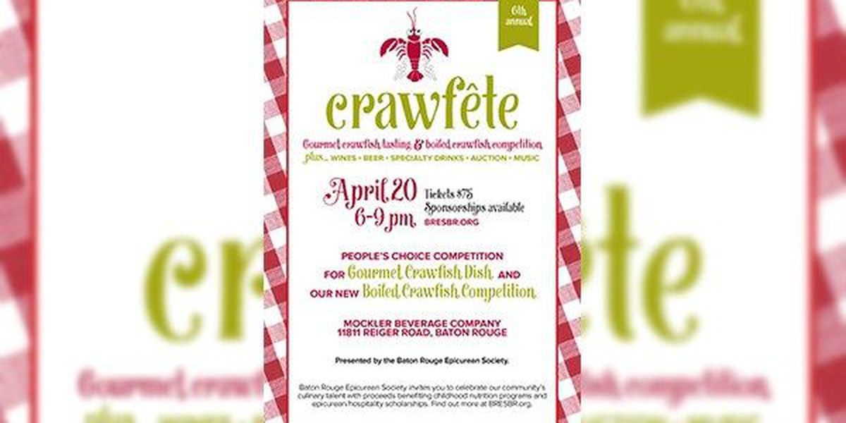 6th Annual Crawfête to be held in Baton Rouge April 20