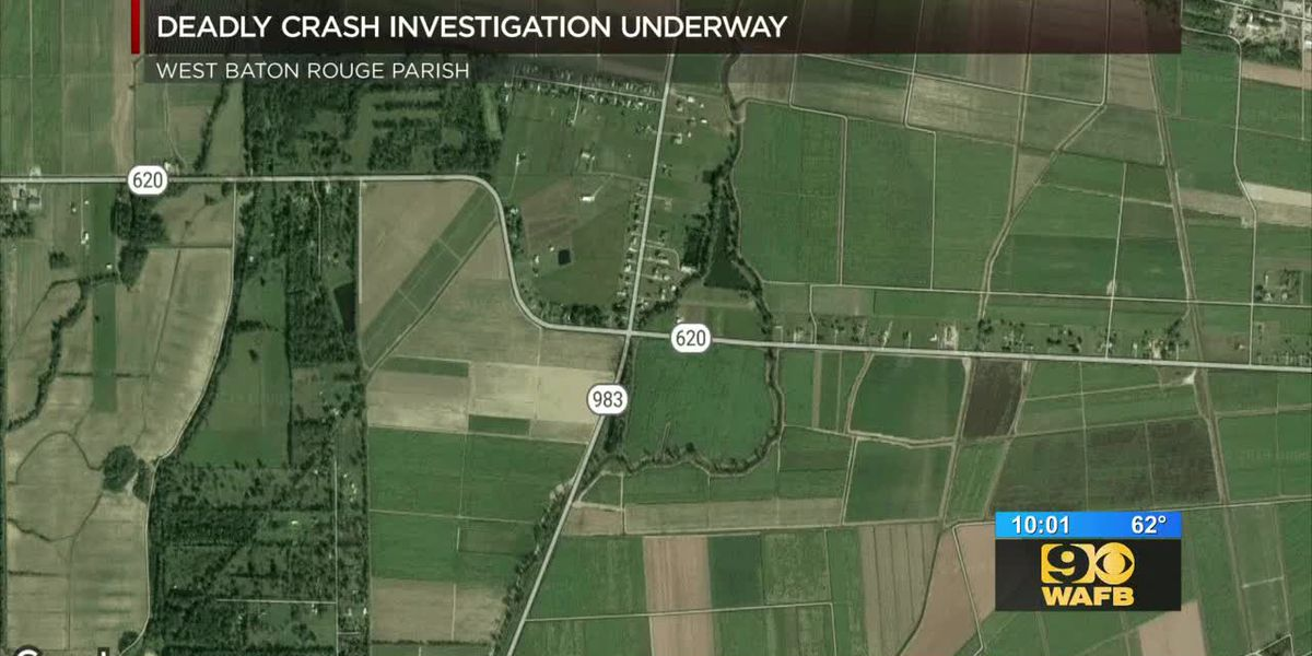 Deadly crash investigation underway in West Baton Rouge Parish on LA 983 near LA 620