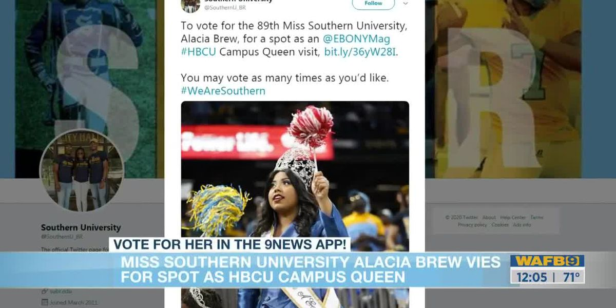 Southern University Alacia Brew needs your vote for HBCU Campus Queen
