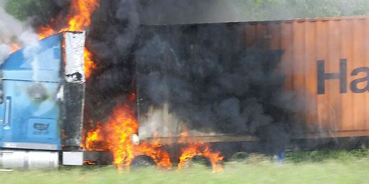 18-wheeler fire slows Hwy 190 traffic near Krotz Springs