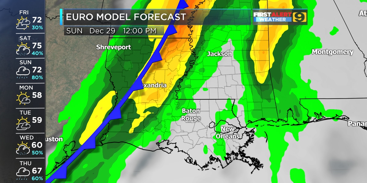 Rain chances are back for the weekend