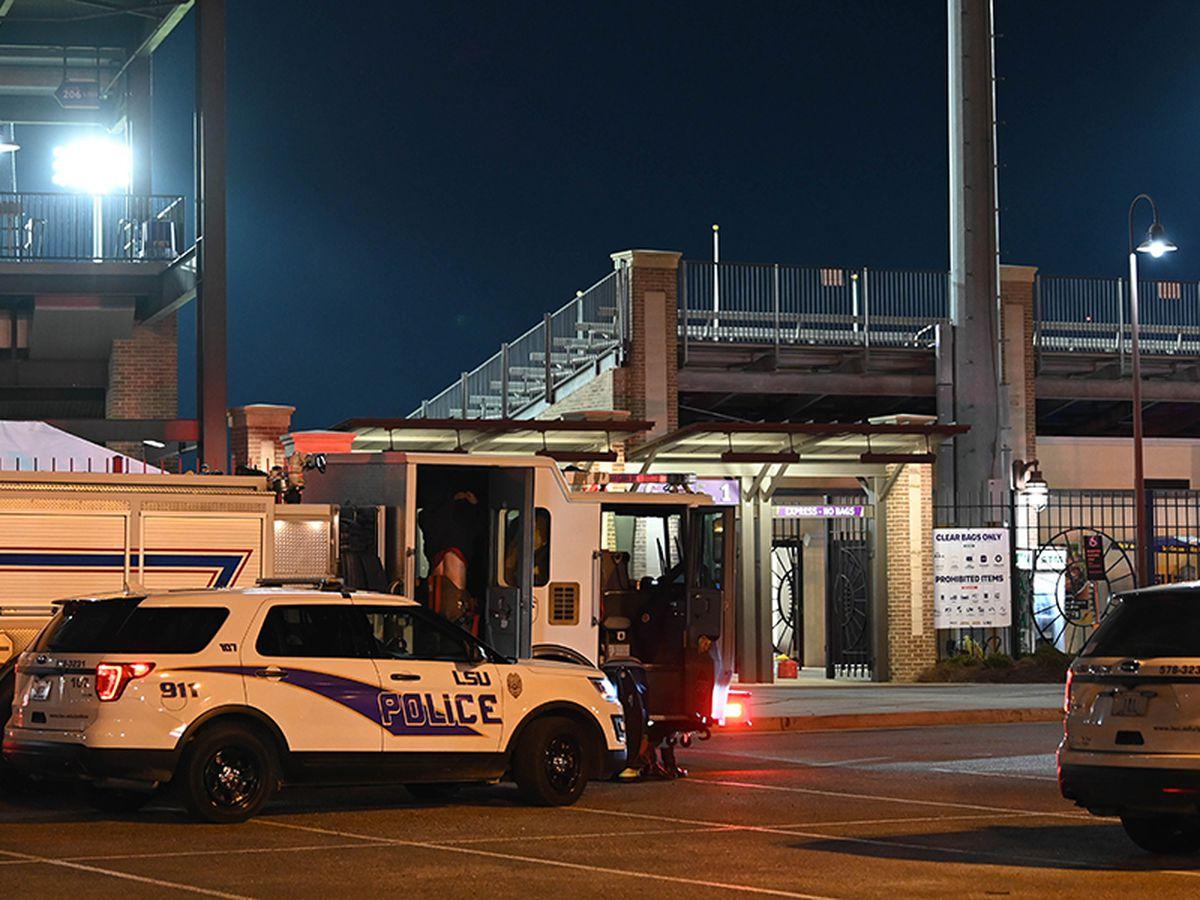 BRFD responds to small accidental fire at Alex Box Stadium