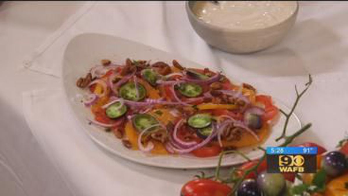 Heirloom Tomato Salad With Honey-Whipped Goat Cheese