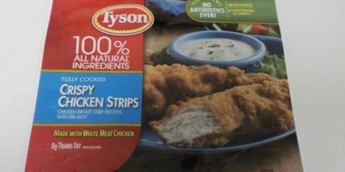 Tyson recall expanded to include nearly 12 million pounds of chicken strips