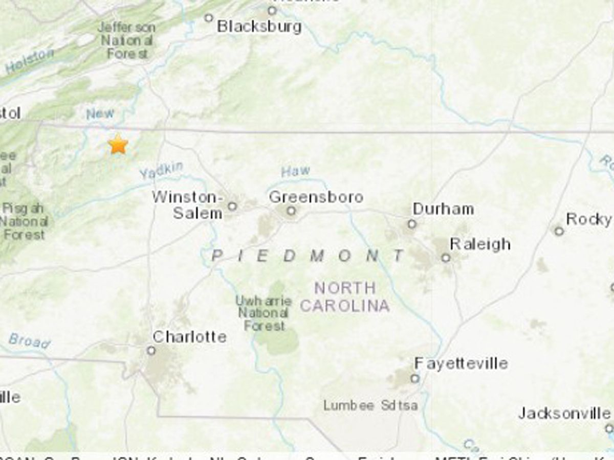 5.1-magnitude quake hits North Carolina; no damage reported