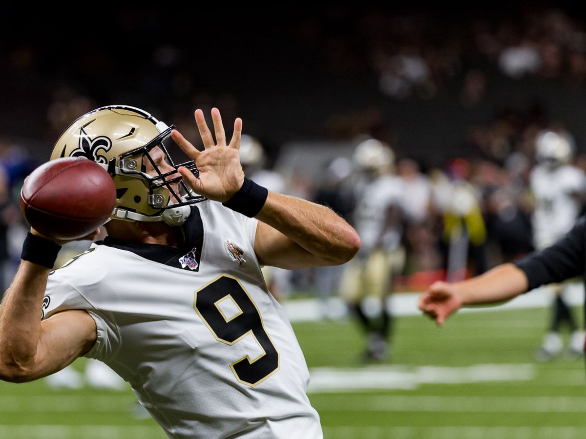 Brees tosses 3 TDs, defense gets 4 INTs as Saints beat Bucs