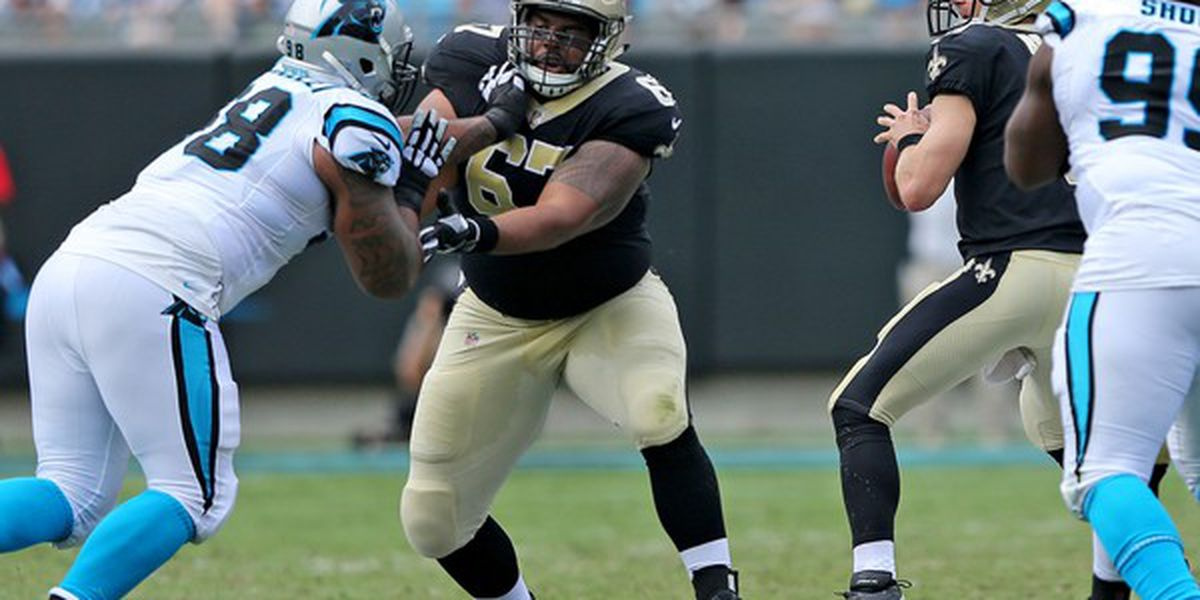 Offensive lineman Peat and Warford out for the Saints-Titans game
