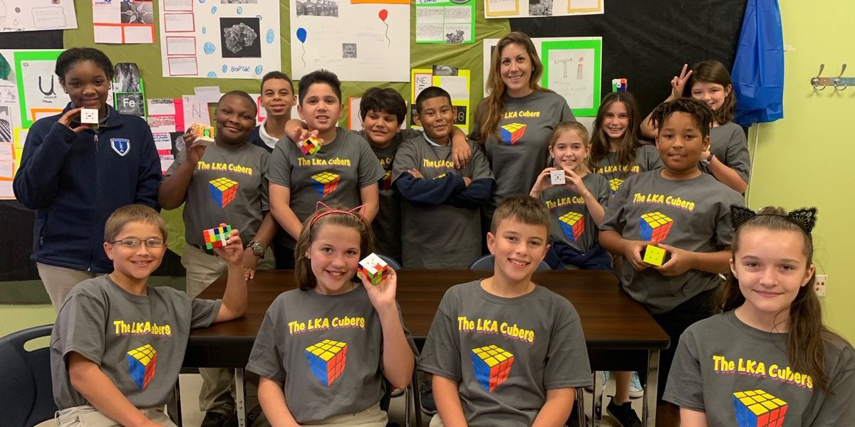 La. teacher starts Rubik's Cube club; several students can solve cube in under 30 seconds