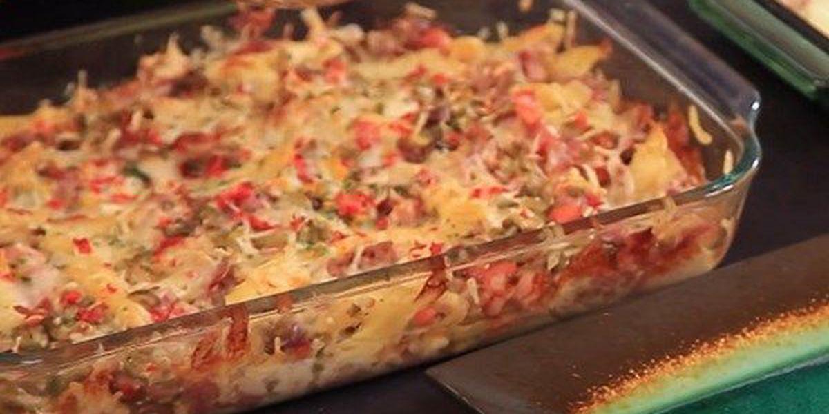 Baked Muffuletta Pasta