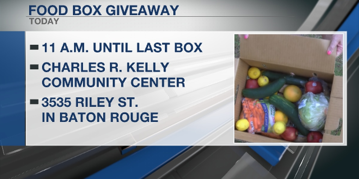 Food Box giveaway happening in Baton Rouge Saturday, February 6