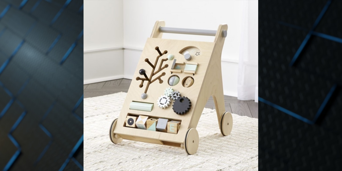 Infant walkers sold at Crate and Barrel recalled for choking, laceration hazards
