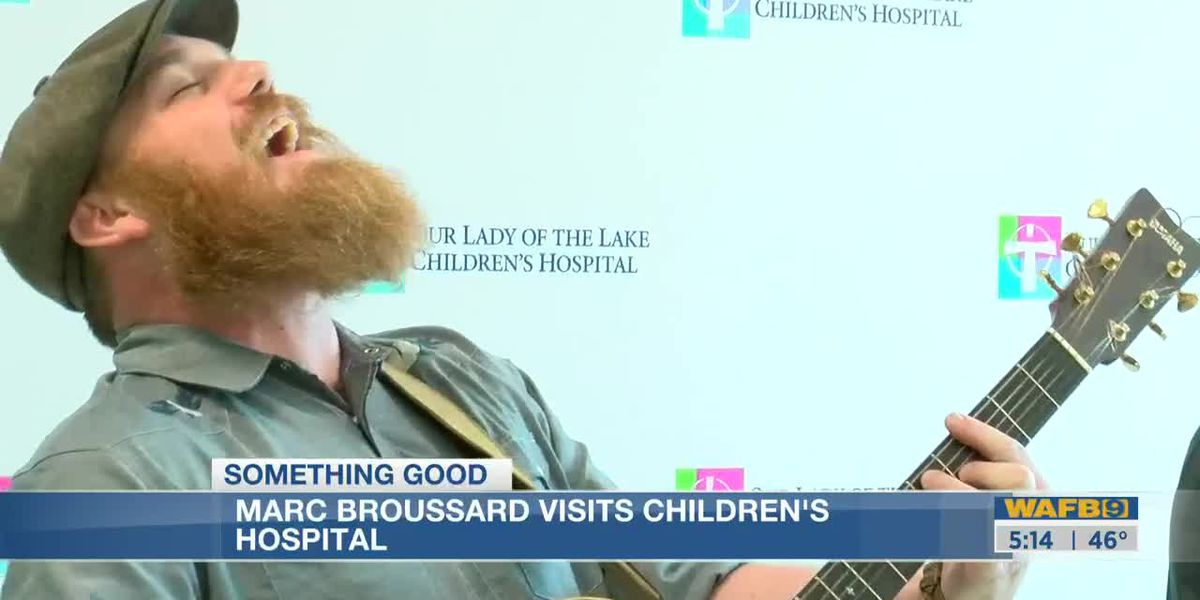Louisiana author, musician performs for kids at children's hospital