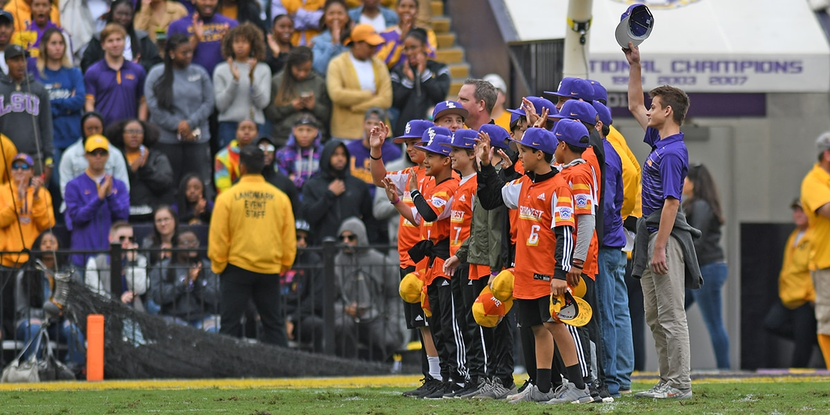 Louisiana's first ever Little League World Series champions honored at LSU match against Auburn