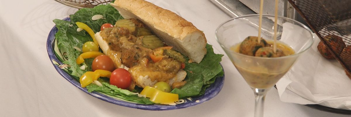 Crawfish Boulettes Po'Boy with Étouffée Sauce