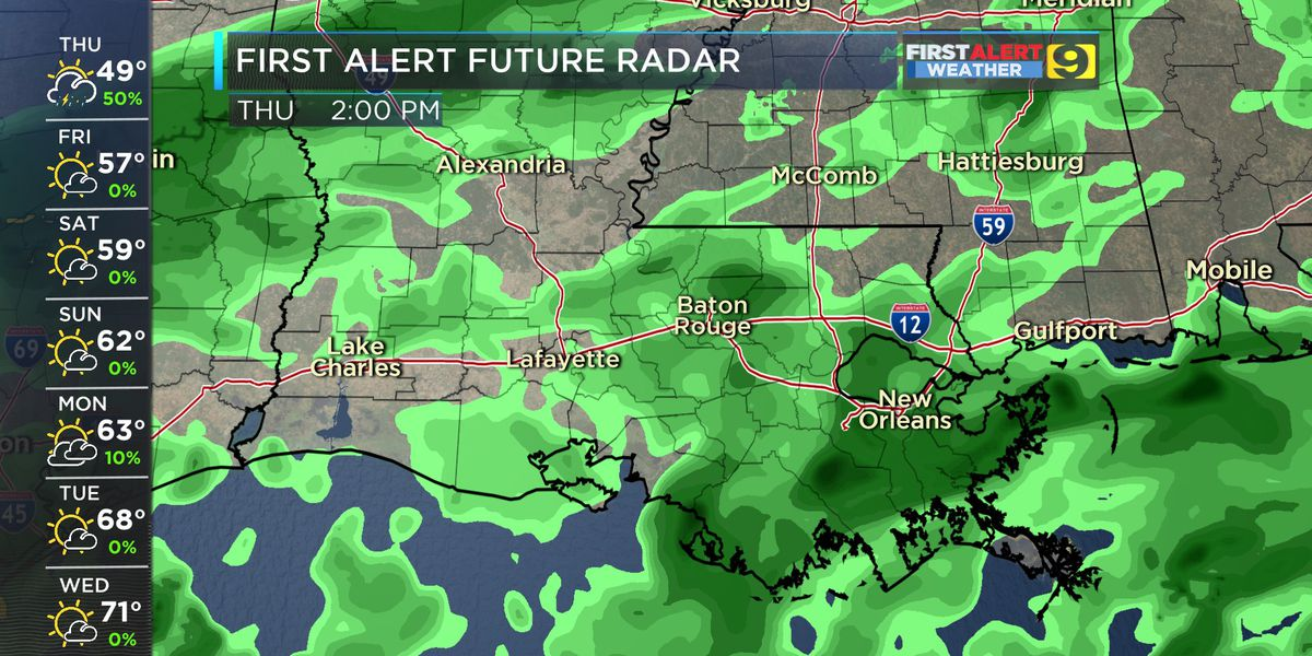 FIRST ALERT FORECAST: Rain returns to the area