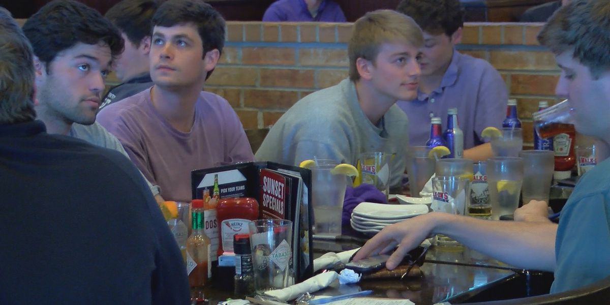 LSU fans cheer on Tigers basketball team from Baton Rouge