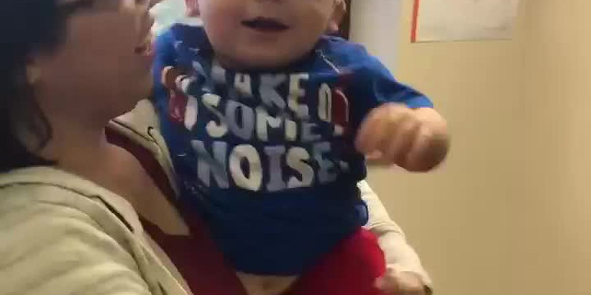 Denham Springs baby hears for the first time after cochlear implants - 2