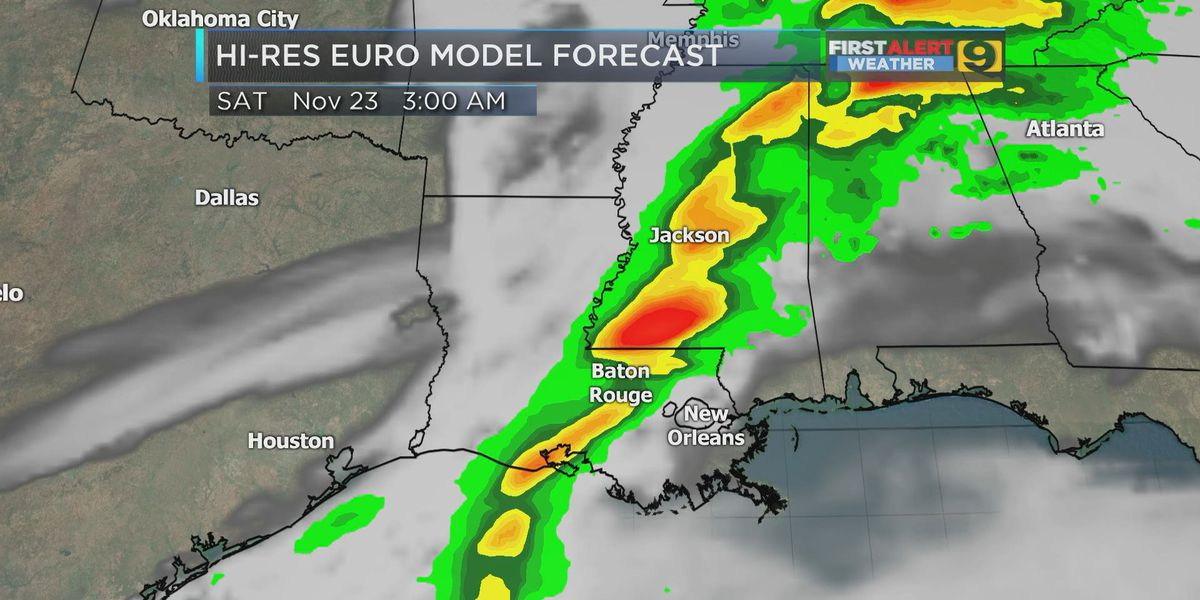 FIRST ALERT FORECAST: Rain returns with cold front Friday
