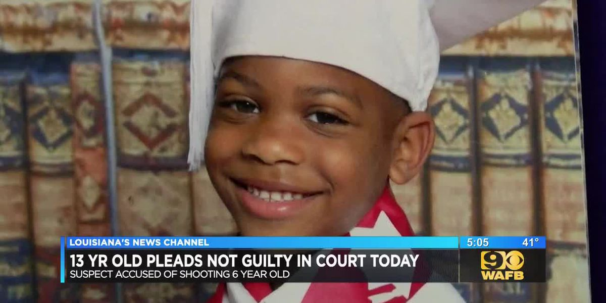 13 year old accused of shooting 6 year old pleads not guilty in court