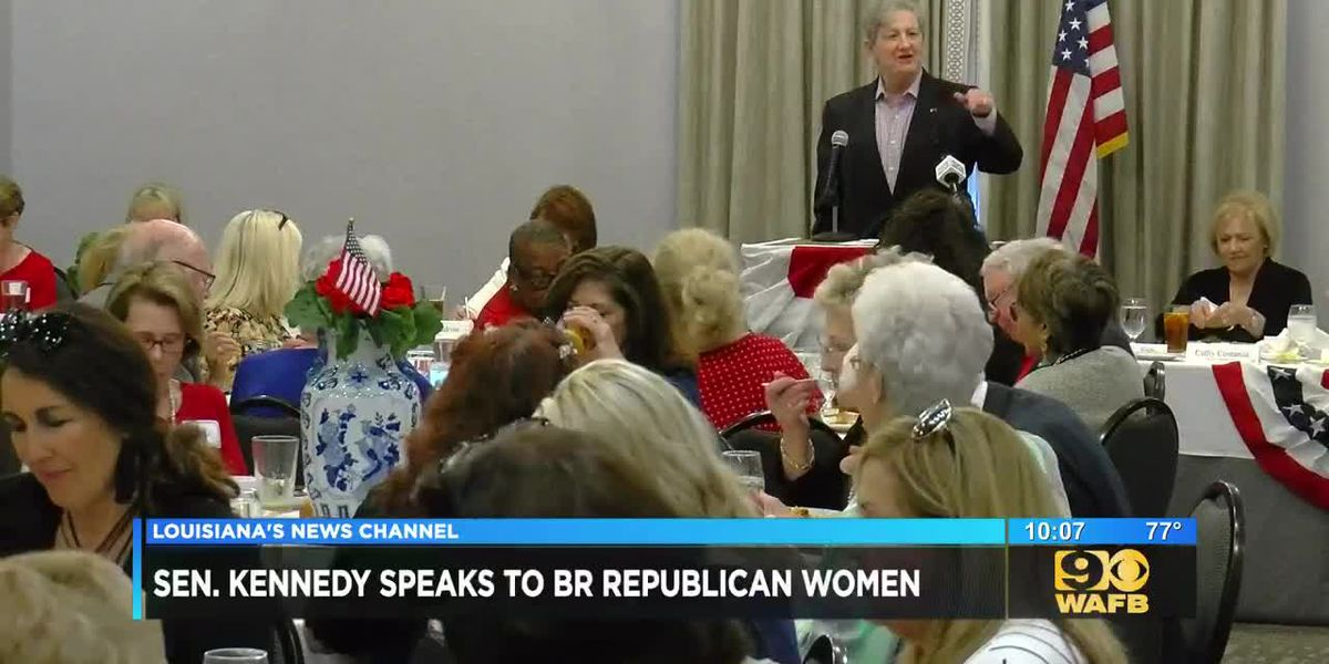 Sen. Kennedy makes appearance to speak to Republican Women of Baton Rouge
