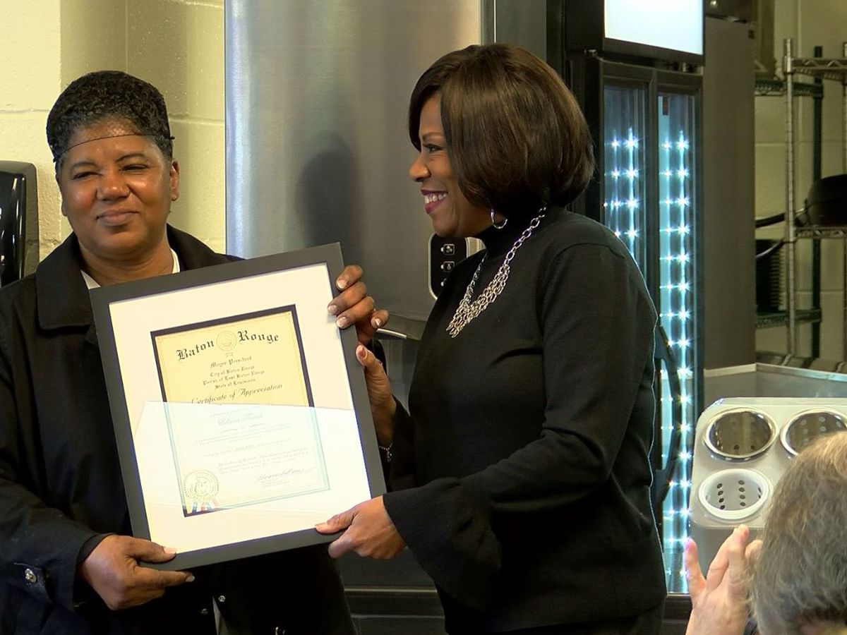 Food service coordinator for Salvation Army honored by Mayor Broome