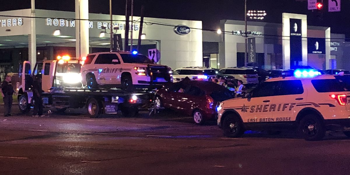 EBRSO deputy involved in wreck while responding to crash; unit flipped