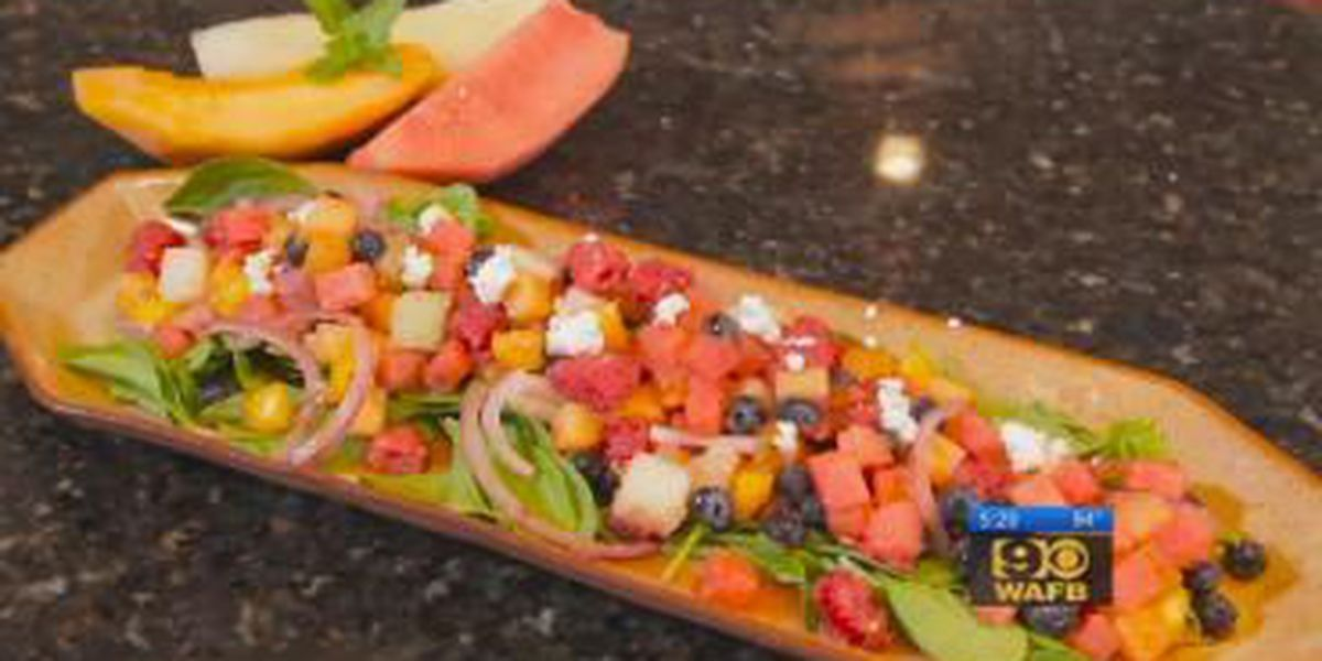 Stirrin' It Up: Summer Melon and Berry Salad with Watermelon Vinaigrette (June 23)