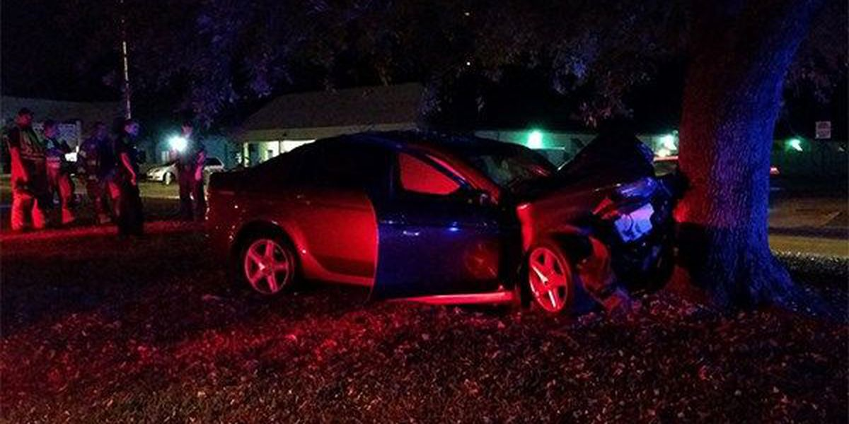 Witnesses: Car hits tree, sending 1 to hospital