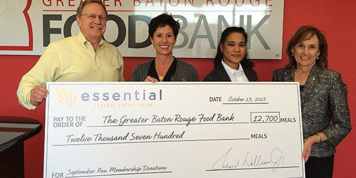 Local credit union delivers donation for Greater Baton Rouge Food Bank