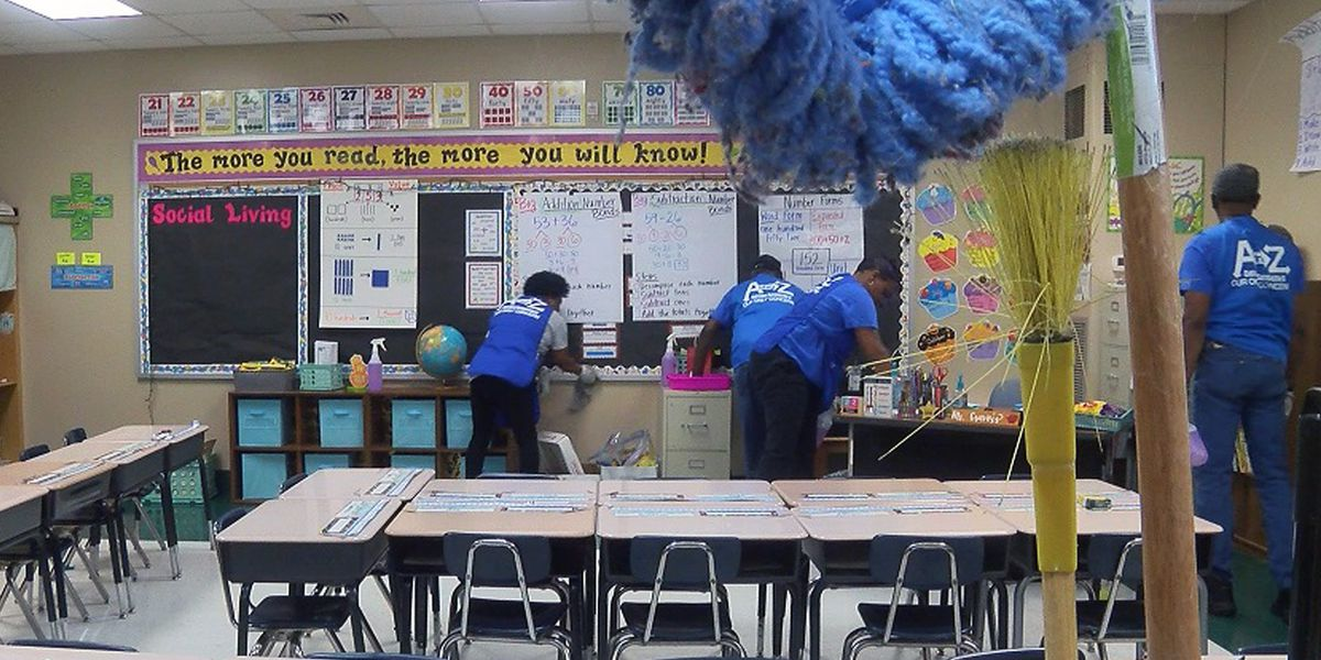 Deep scrub underway at area schools due to flu