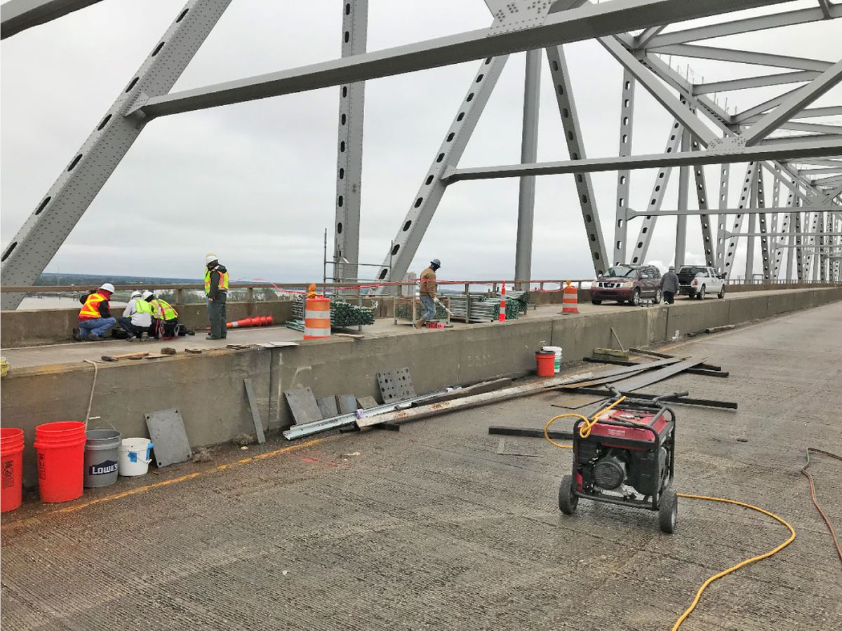 Sunshine Bridge repairs progressing, according to latest update; work still expected to be complete in Jan. 2019