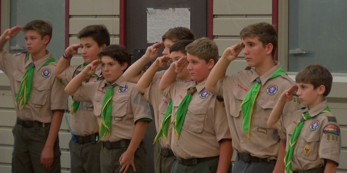 La. Boy Scouts hold flag retirement ceremony for 9/11 anniversary