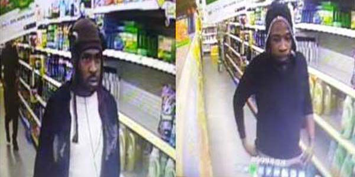 Police searching for suspects connected to vehicle burglary, stolen credit card