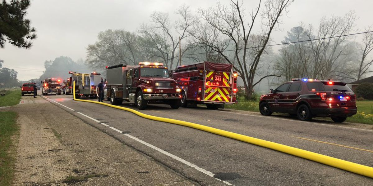 House fire causes traffic problems on Plank Road; no injuries