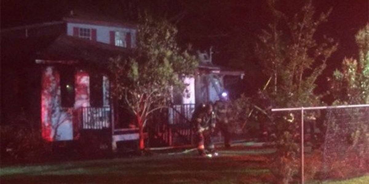 Investigators believe arson to blame for fire that destroyed nearly half of home